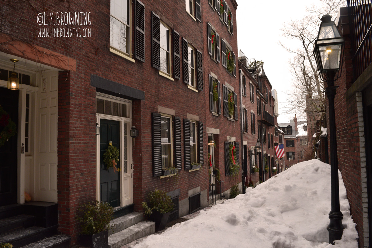 Acorn Street, Beacon Hill, Boston, MA | February 28, 2015
